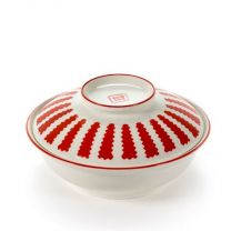 Serax Suppenbox Table Nomade Paola Navone weiß-rot D17,5XH9cm